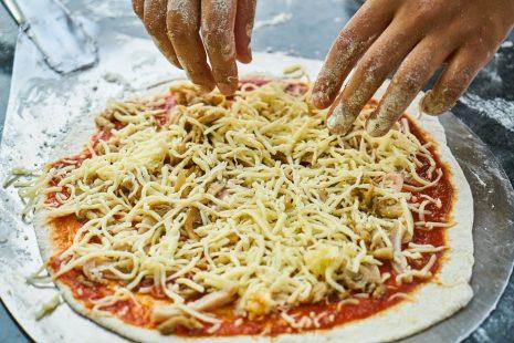 بيتزا بالعجينة السائلة